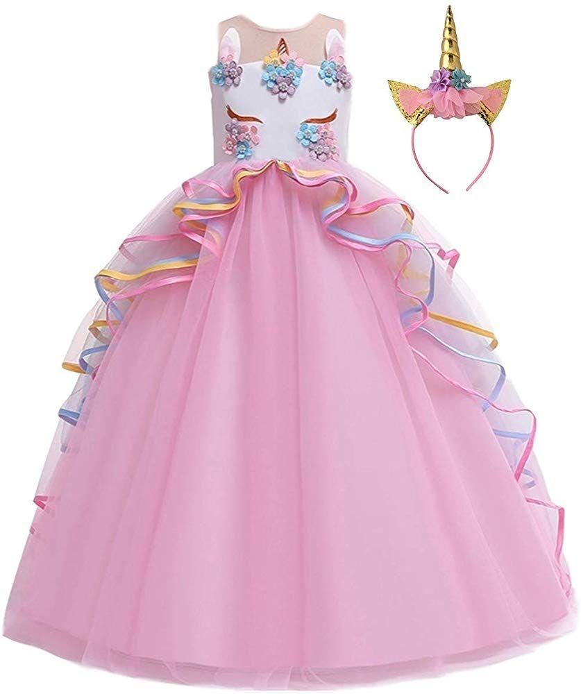 Amazon.com: HIHCBF Girls Unicorn Costume Pageant Princess Party