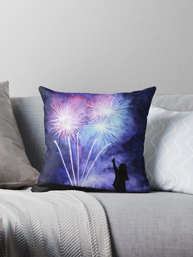 Blue and pink fireworks Throw Pillow by @savousepate on Redbubble #pillow #throwpillow #homedecor #purplethrowpillow #purplepillow #purpledecor #fireworks #firework #watercolor #watercolorpainting #ultraviolet #plum #indigo #blueandpurple #purpleandblue