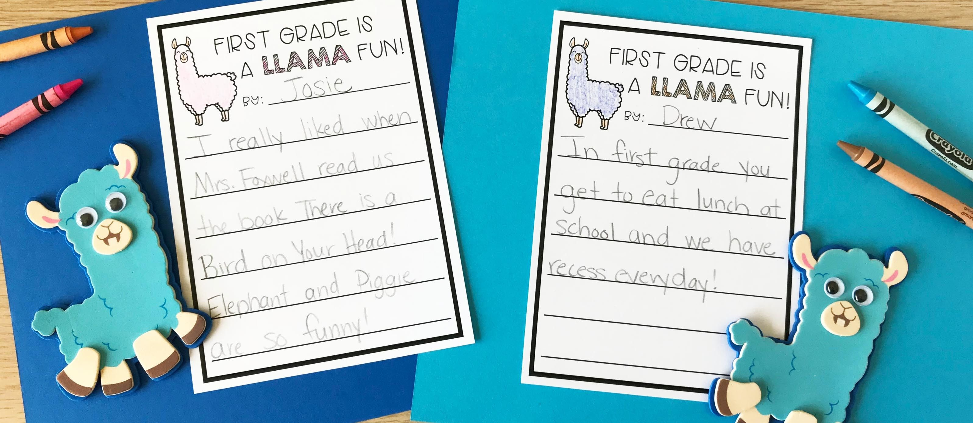 Llama Back To School Writing Craft With Images
