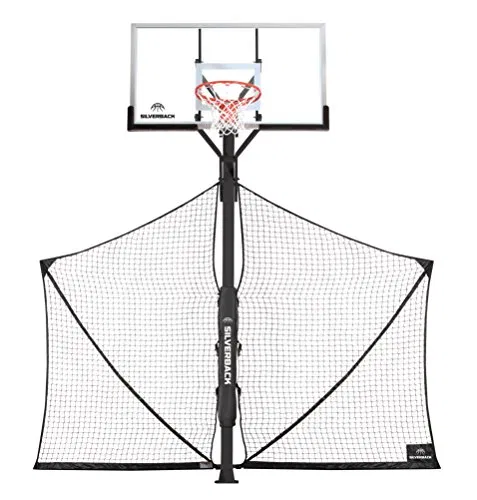 Basketball Yard Guard Defensive Net System Rebounder With Foldable Net In 2020 Rebounding Basketball Systems Vertical Jump Training
