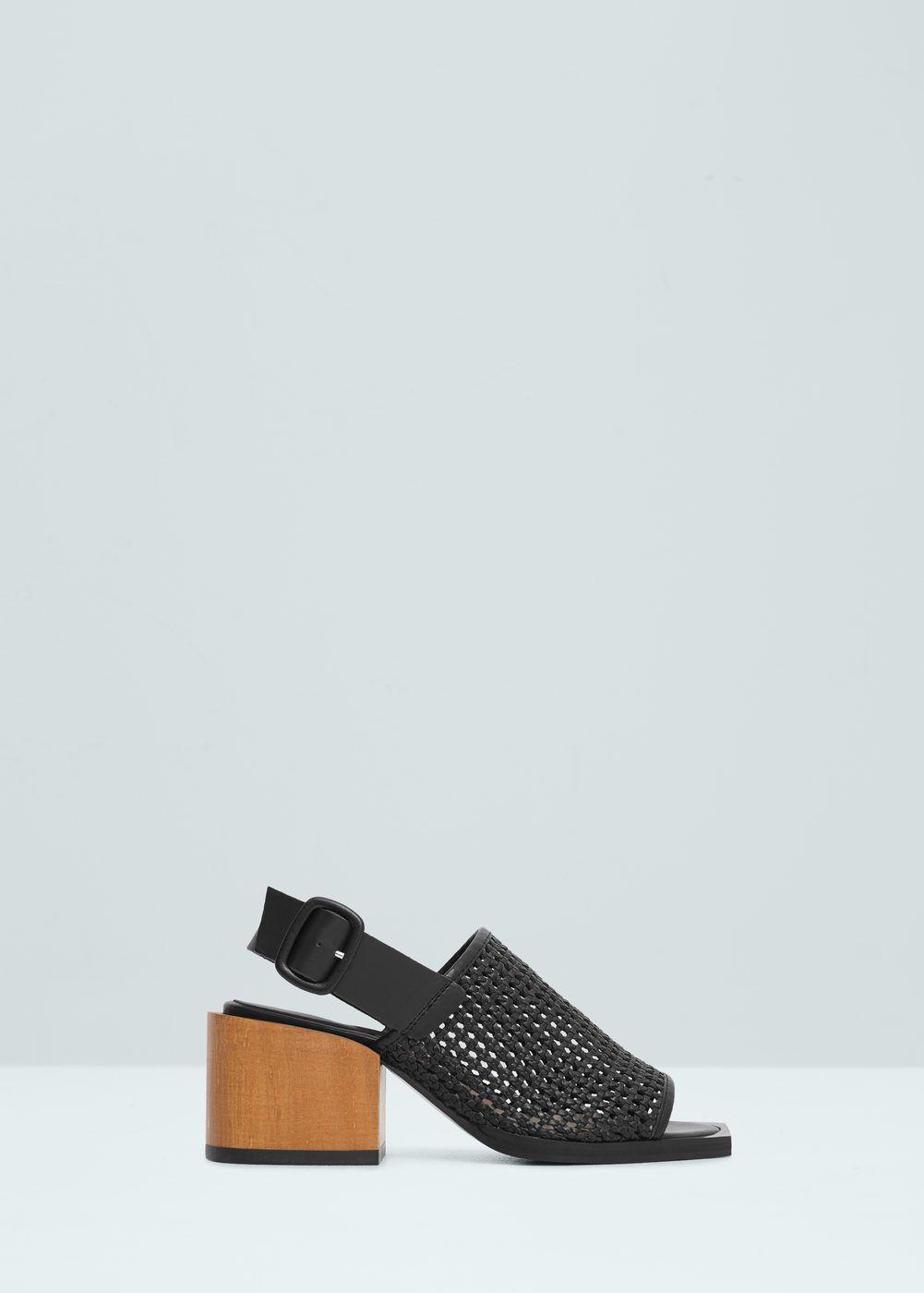 MANGO Contrast heel sandals 0Xcu2h