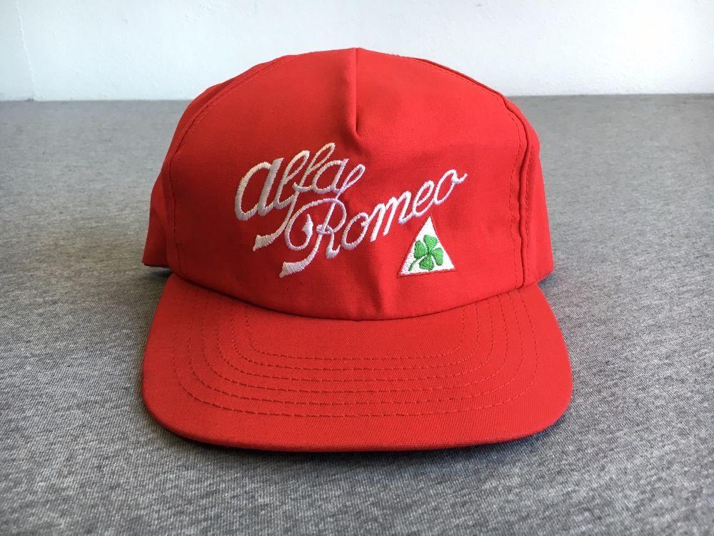 470342e599b VTG ALFA ROMEO HAT 70S 80S Rare Snapback USA Baseball Cap 4 Leaf Clover  Sewn  Stange  alfaromeo  snapback  vtg  70s  80s