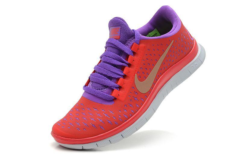 reputable site 4bfe6 54da6 Nike Free 3.0 V4 Orange Purple