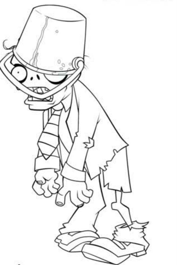 Plants Vs Zombies Coloring Pages In 2021 Coloring Pages Plant Zombie Halloween Coloring Pages [ 1124 x 750 Pixel ]