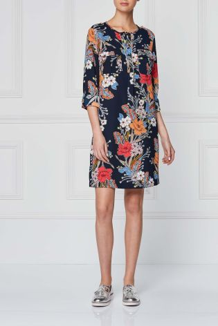 84dce2b5ed Buy Navy Floral Military Style Shirt Dress from the Next UK online shop