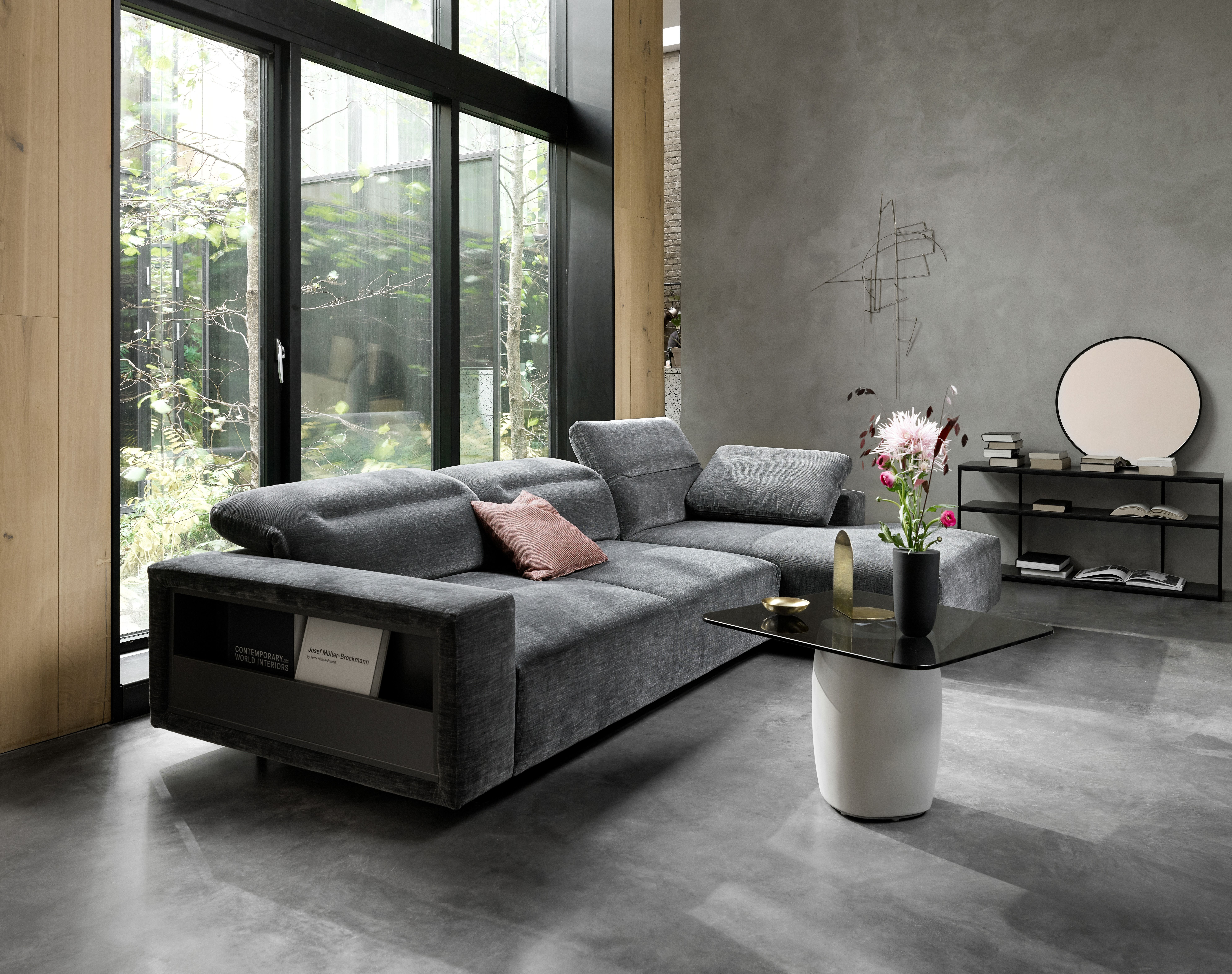 Balancing Light And Dark Perfectly Corner Sofa Design Sofa Design Living Room Designs