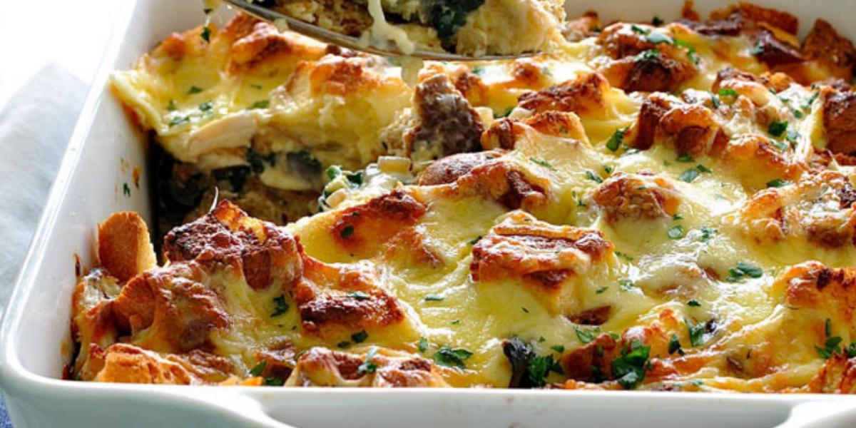 Koolhydraatarme ovenschotel met spinazie en kip: Makkelijk en snel!