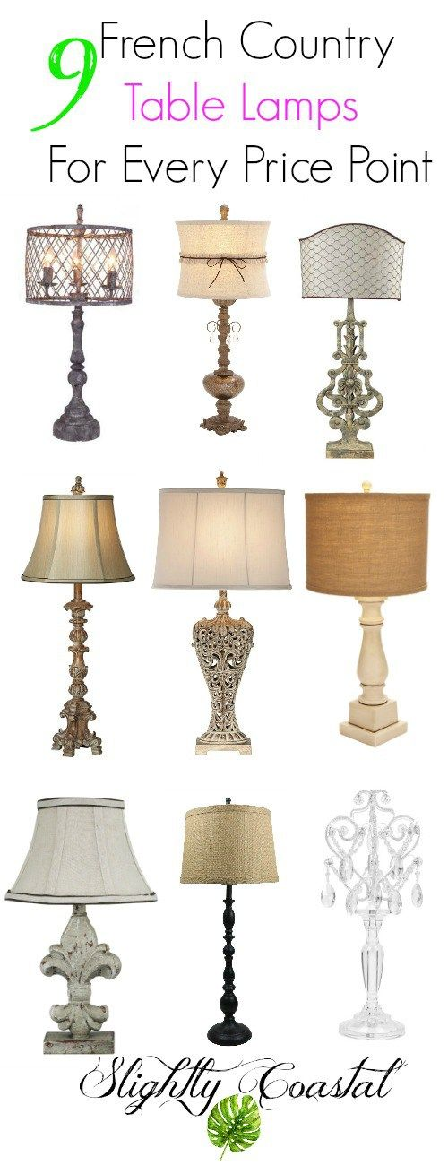 9 French Country Lamps For Every Price Point Country House Decor French Country House Country Lamps