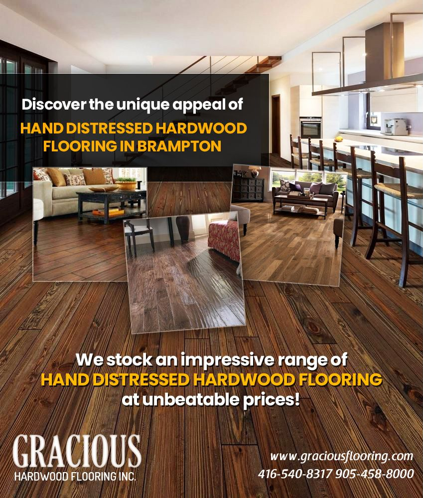 Hand Distressed Hardwood Flooring Brampton Usually Fit In
