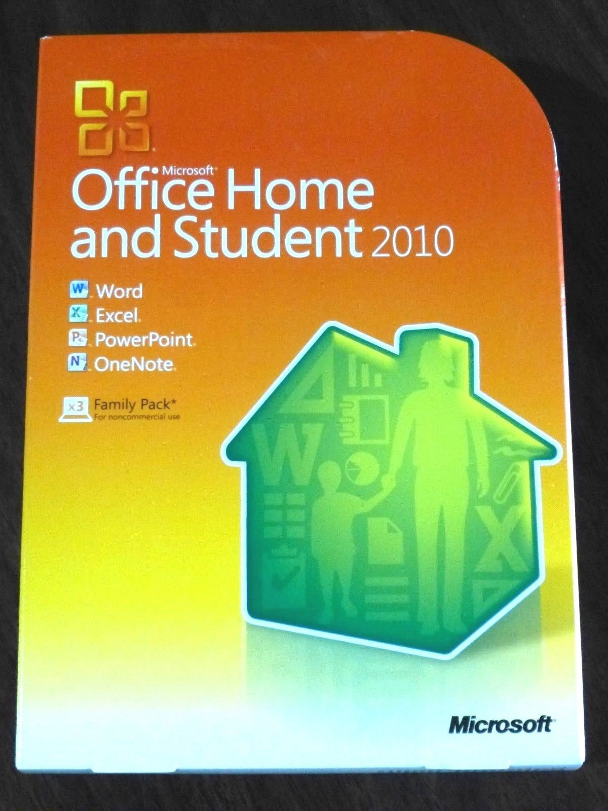 Microsoft Office 2010 Home And Student Family Pack Licensed For 3 Computers