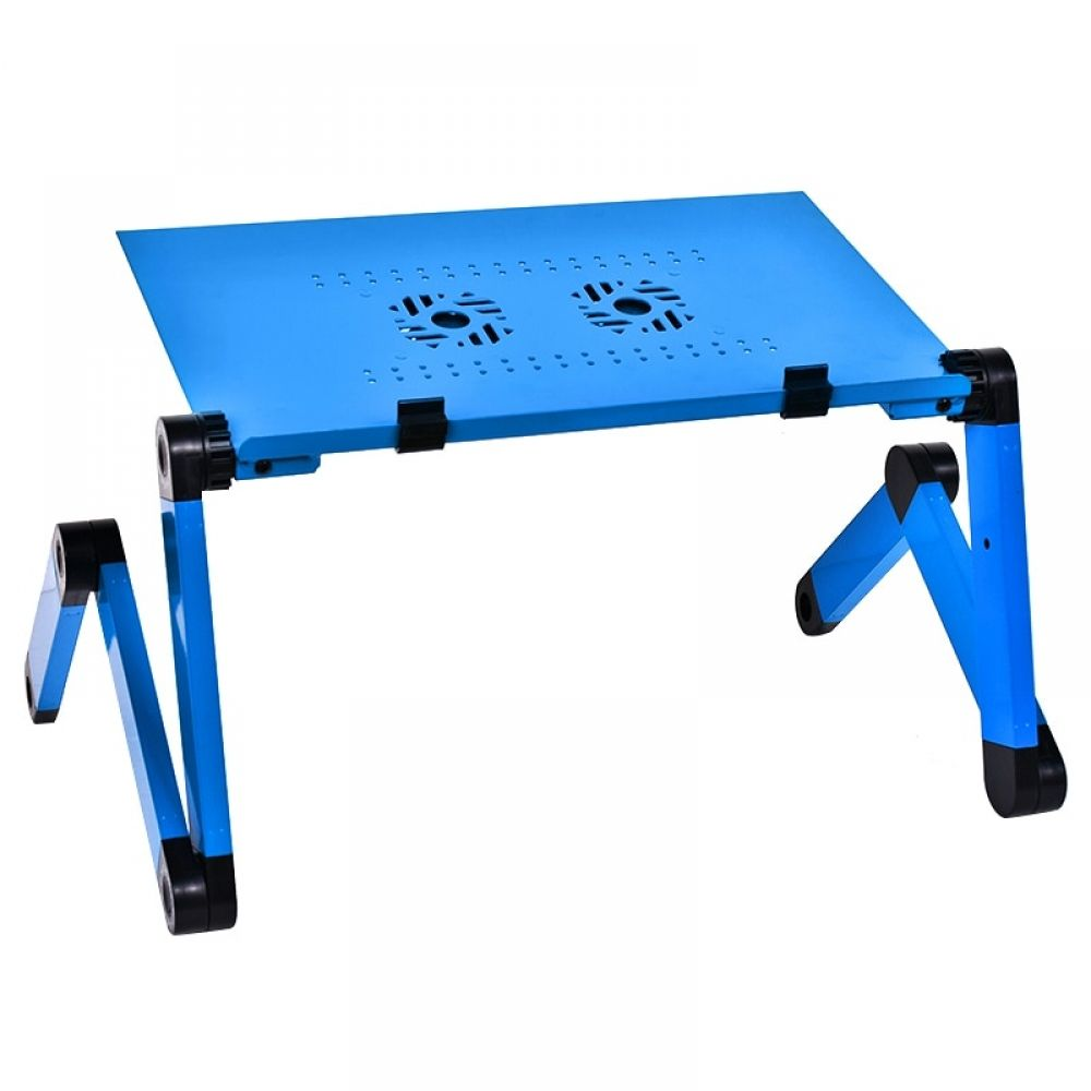Computer Desk Portable Adjustable Foldable Laptop Pc Folding Table Stand Bed Sofa Tray With 2 Cooler Fans Notebook Lap Desk Portable Laptop Desk Adjustable Laptop Table Laptop Desk Stand