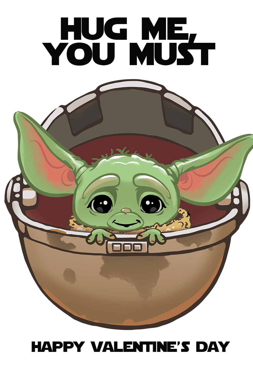 Free Baby Yoda Valentine S Day Printables Eat Drink And Save Money Yoda Valentine Cards Yoda Card Yoda Wallpaper