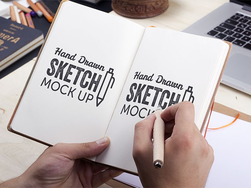 Download Freebie: Hand-Drawn Sketch Mock-Up 2