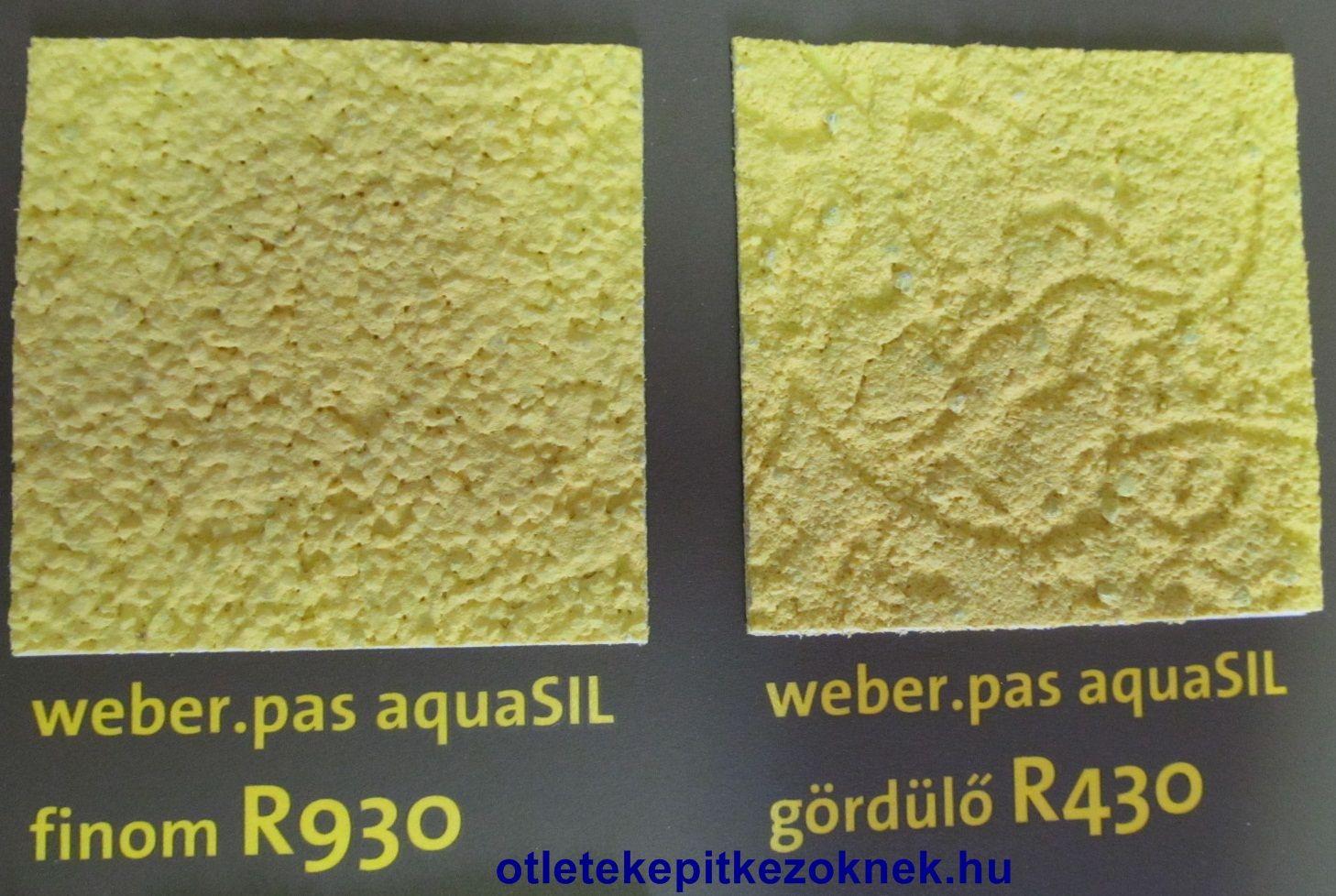 weber.pas aquaSIL vékonyvakolat struktúrája