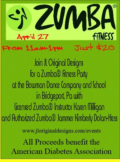 zumba fitness party design flyer