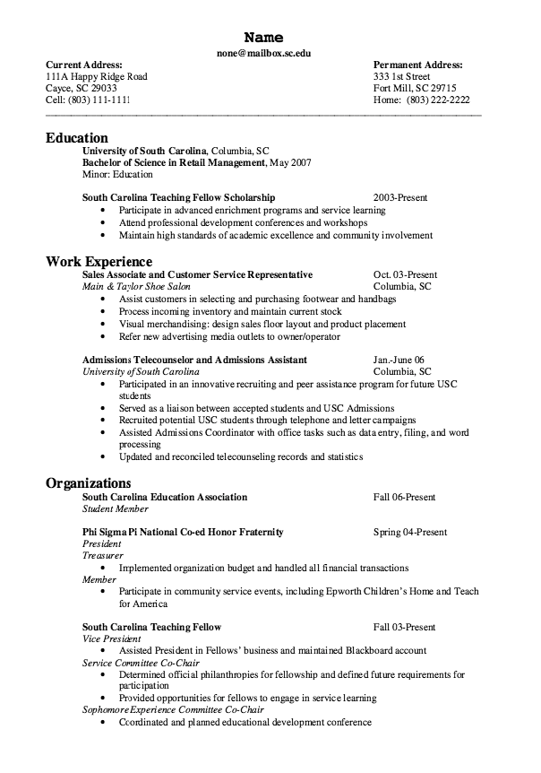 Example Of Admissions Telecounselor Resume Examples Resume Cv