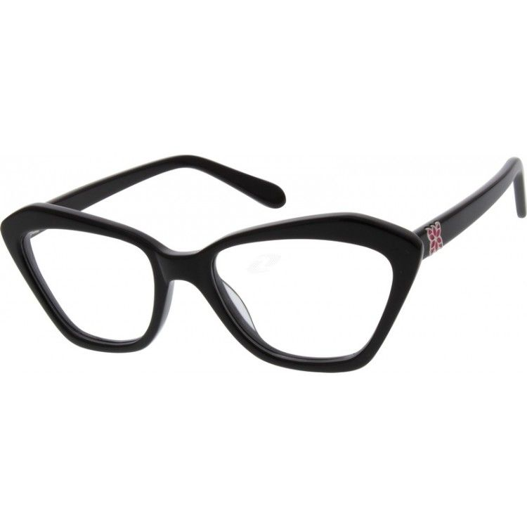 Black cateye glasses 111121 zenni optical eyeglasses