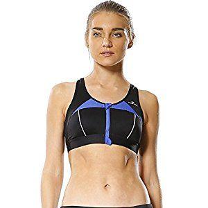 Yvette Women's Tank Top Zipper In Front Sports Bra #070149-Jogging ...