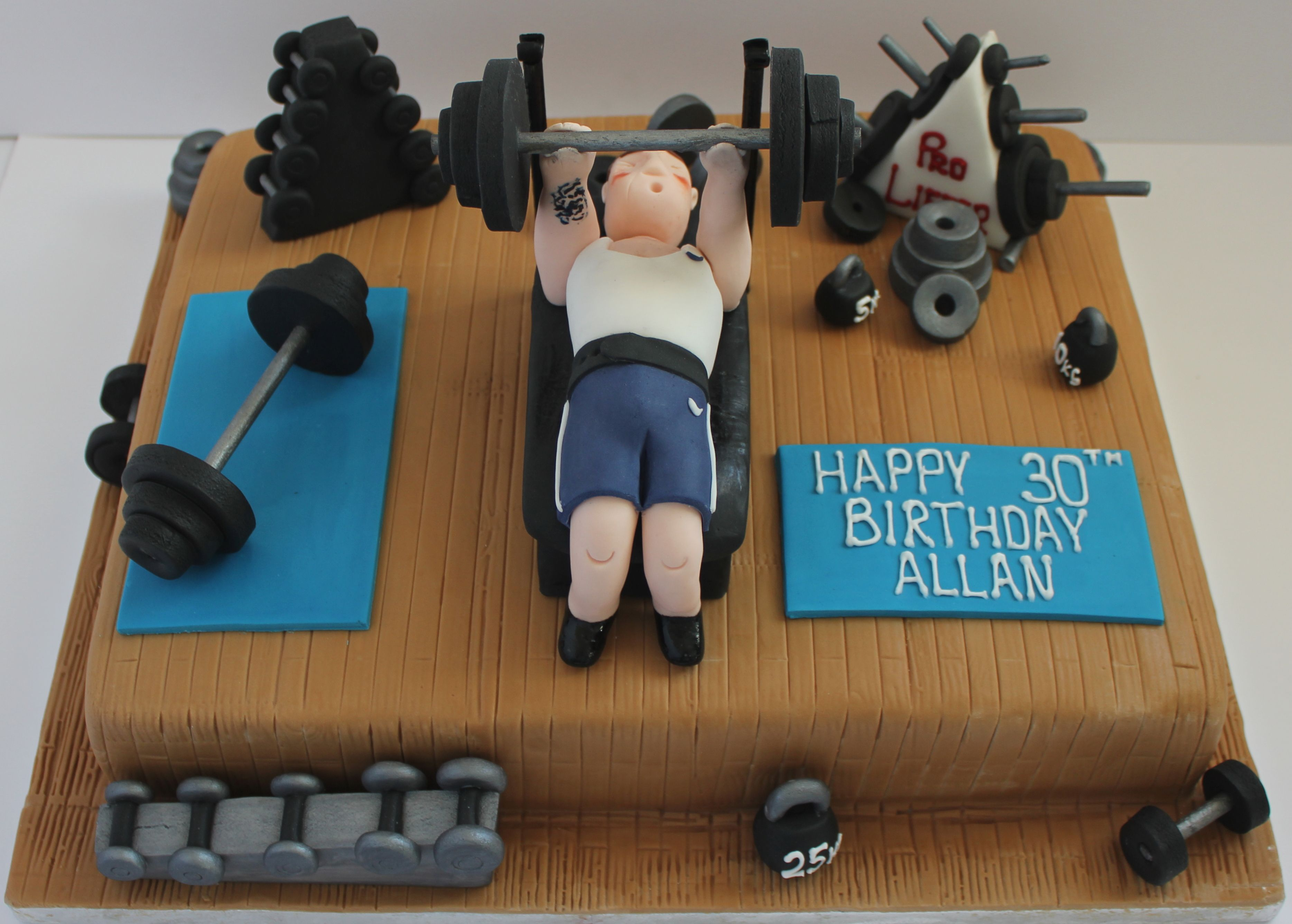 Cake Designs For Gym Lovers : A cake for someone who loves the gym and lifting weights ...