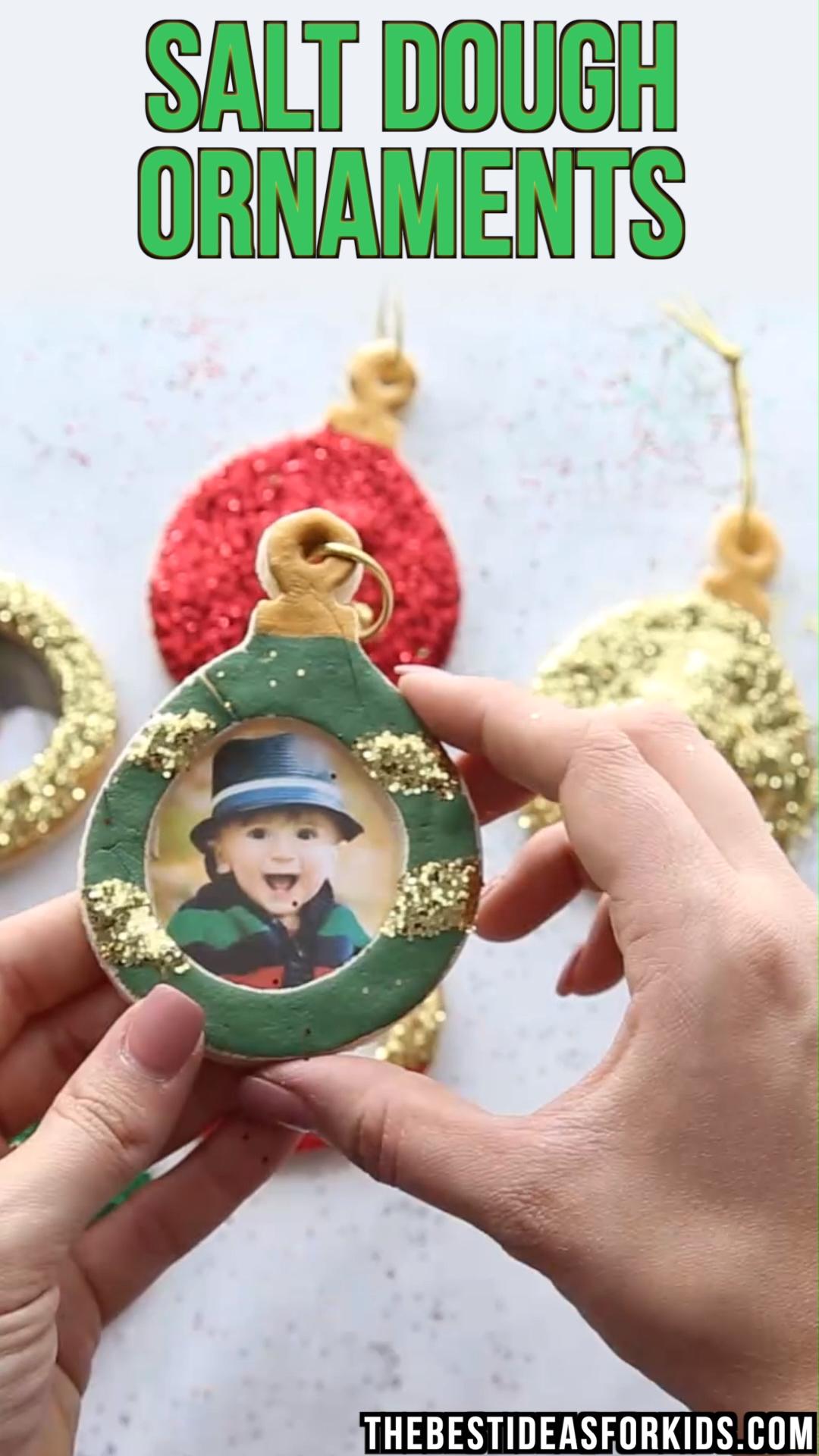 SALT DOUGH ORNAMENTS #christmascraftsforkidstomake