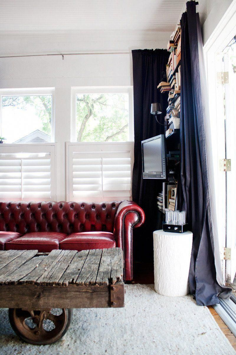 Red leather works with so many things. | Leather couches ...