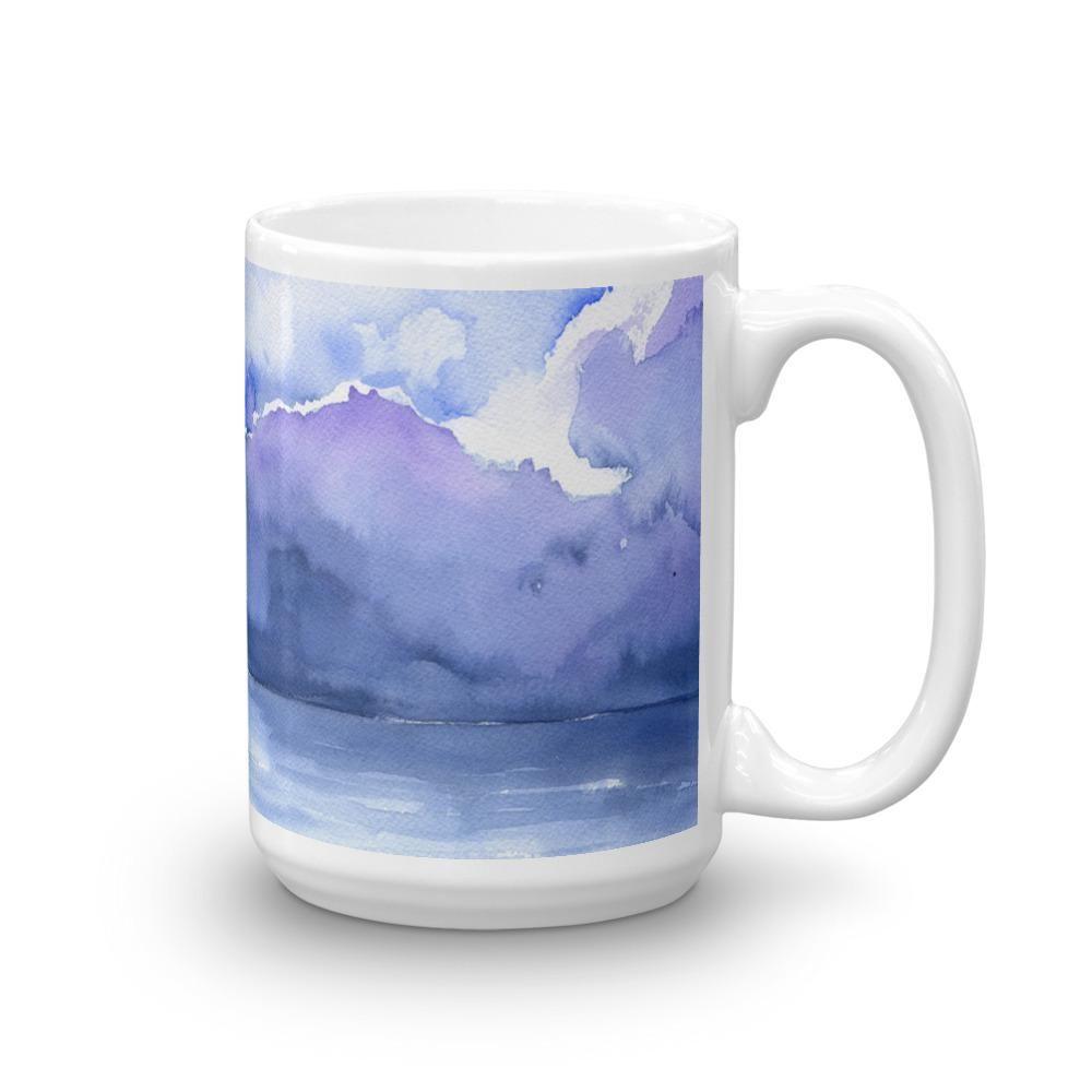 Abstract Ocean Watercolor Mug Mugs Watercolor Abstract