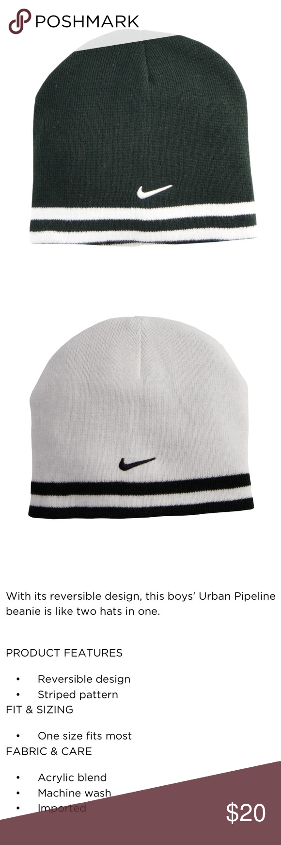 954d8551f753d Nike Boys Reversible Striped Beanie Hat Nike Boys Reversible Striped Beanie  Hat Brand new with tags