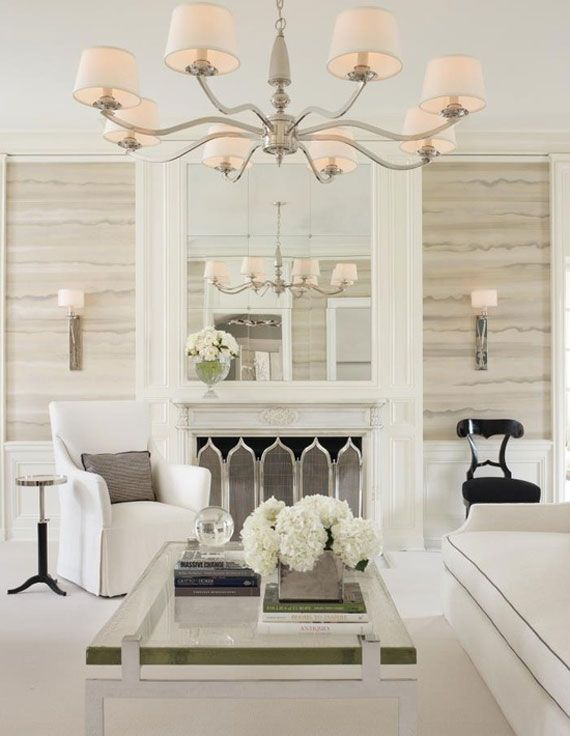 the house looks dashing with a white living room design home sweet