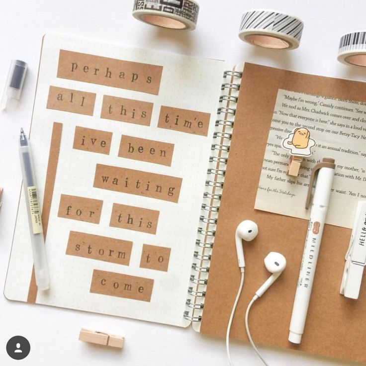 21 Delicious Brown Bullet Journal theme Ideas   My Inner Creative