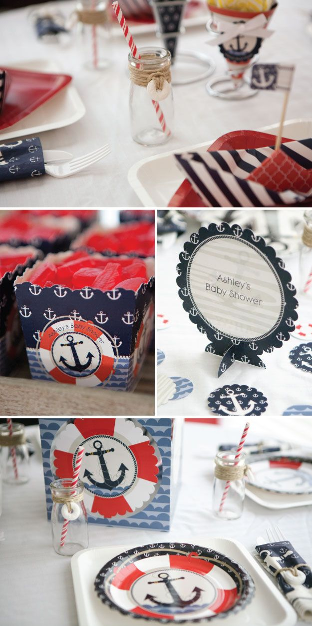 diy party plans shower home sout decorations also sailor as themes designs baby table well nautical themed centerpieces decor