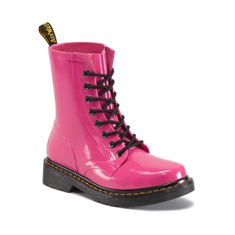 WOMENS DR. MARTENS 1460 DRENCH RUBBER BOOT PINK | Boots