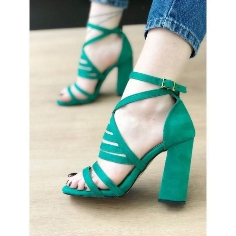 391fc122989 Thick High Heel Platform Gladiator Shoes Summer Nightclub Sandals Womens  Pumps-shoes-Vinny s Digital