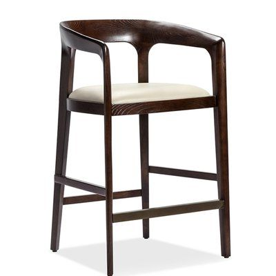 Interlude Kendra Counter Bar Stool Color Walnut
