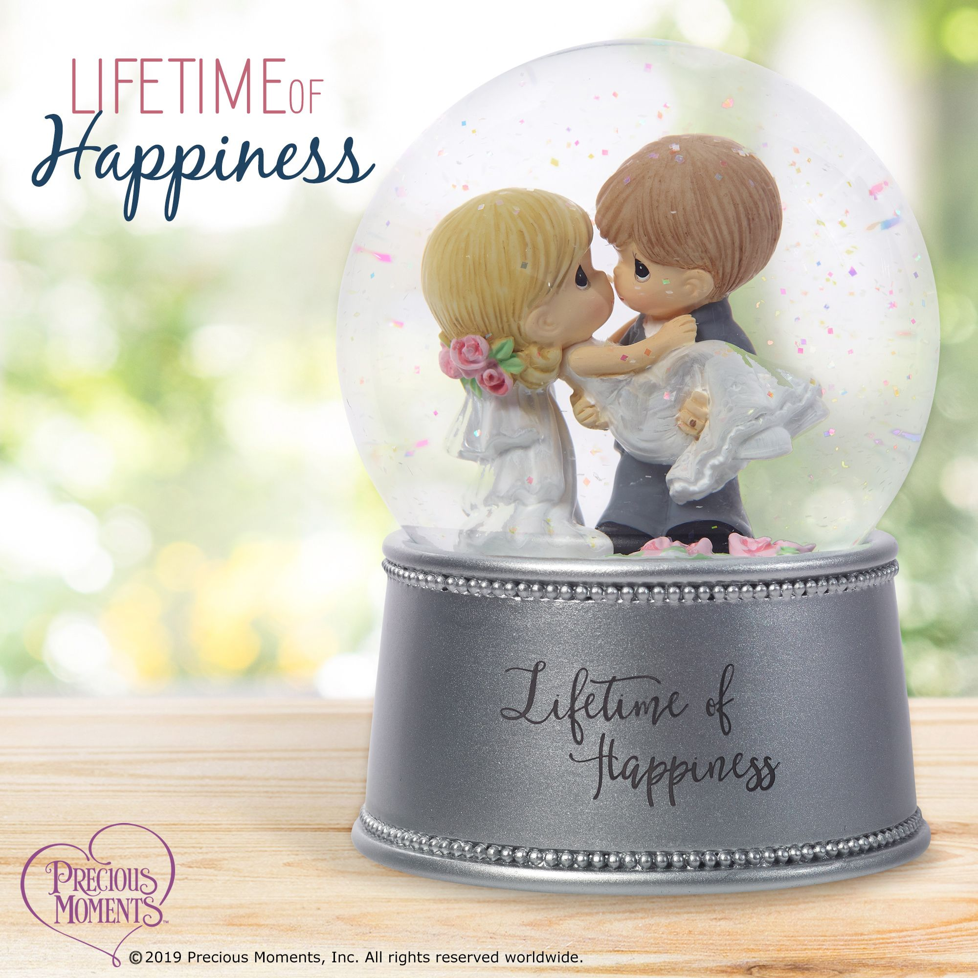 Lifetime Of Happiness, Musical Snow Globe, Resin/Glass in