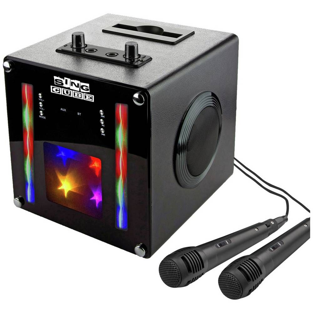 Buy RockJam SingCube Bluetooth Karaoke Machine - Black | Karaoke machines | Argos