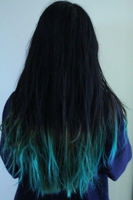 Blue Ombre Hair The Beauty Thesis Dipped Hair Dip Dye Hair Hair Styles