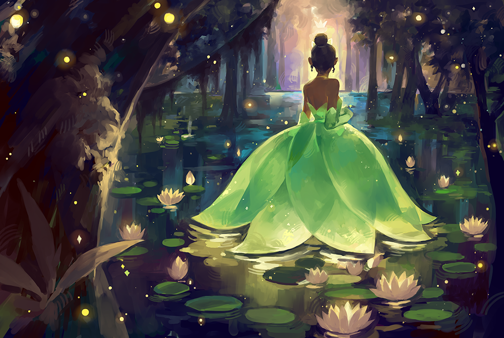 """Bayou Princess "" A piece I did for the Ron&Jon exhibit at Gallery Nucleus! Inspired by the movie's concept artworks!"