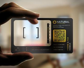 Plastico Camera Business Card With The Qr Code On It Is Too Much Info A