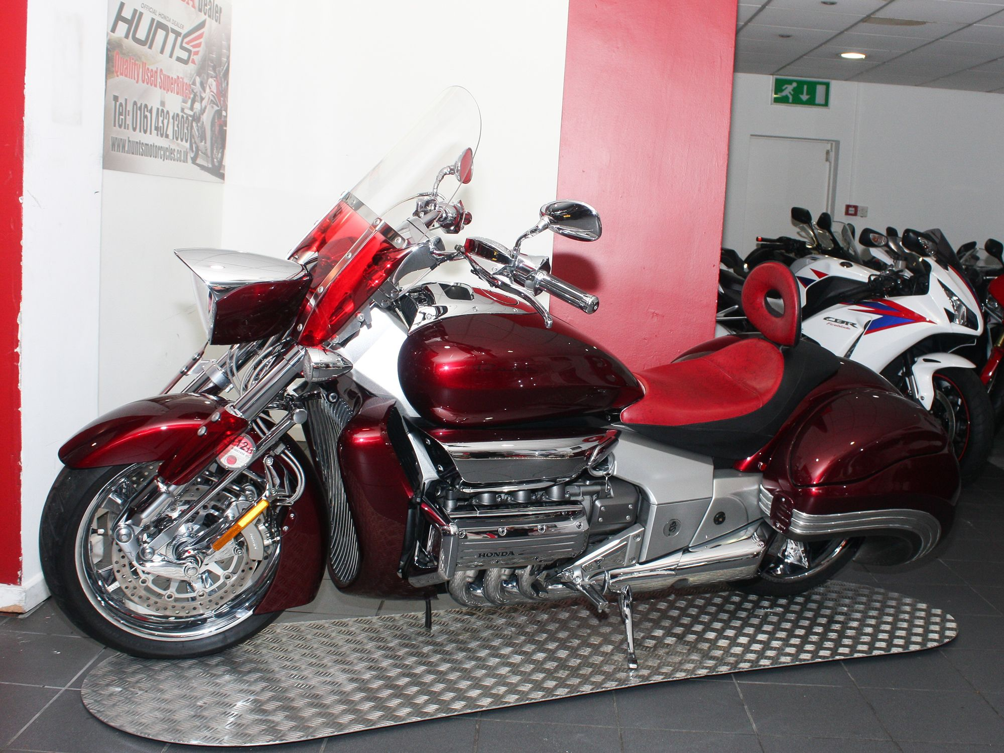 Honda NRX1800 Valkyrie Rune Finished in Bloodstone Candy Apple Red and  complete with Honda chrome kit, touring windscreen, wind deflectors, Corbin  seat with ...