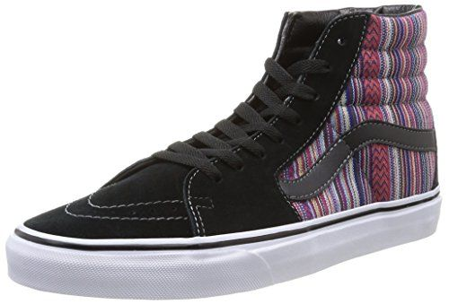 faf1be30eb Vans SK8 Hi Guate Weave Black Multi Unisex Adult Classic Skate Shoes (5  Men s 6.5 Women s)