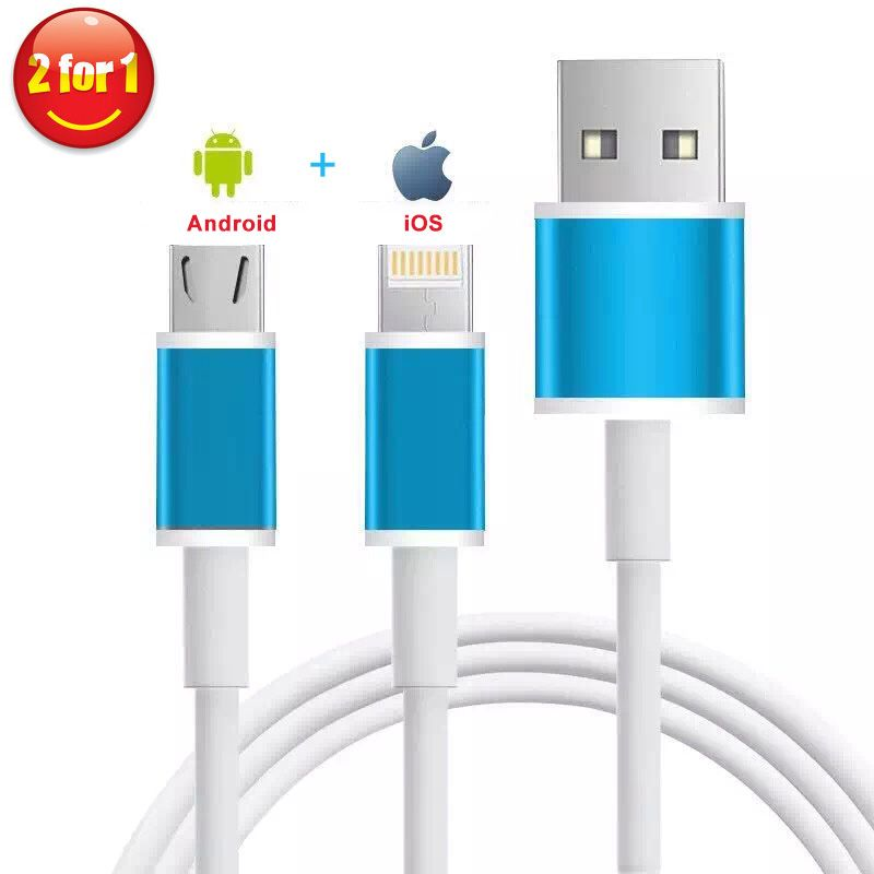 Find More Mobile Phone Cables Information About 2 In 1 Lighting Cable Data Usb Cable Phone Cables Data Cable