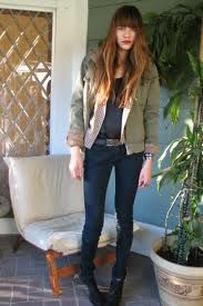We love her fall vibe at Joe's Jeans