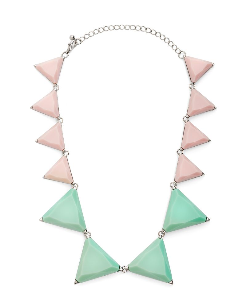 {Sorbet Thorn Necklace} pastel geometrics