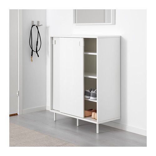 ikea mackapr shoe ideal in smaller areas since the sliding doors save space