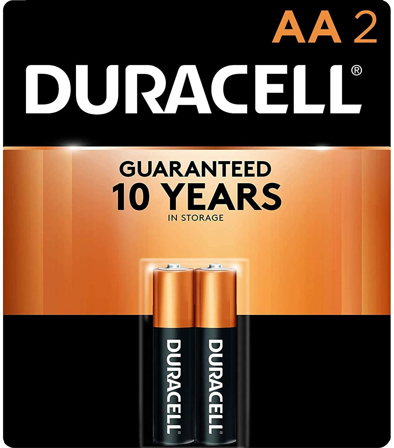 Duracell Coppertop 2 Count Aa Alkaline Batteries Long Lasting All Purpose Double A Battery For Duracell Alkaline Battery Duracell Batteries