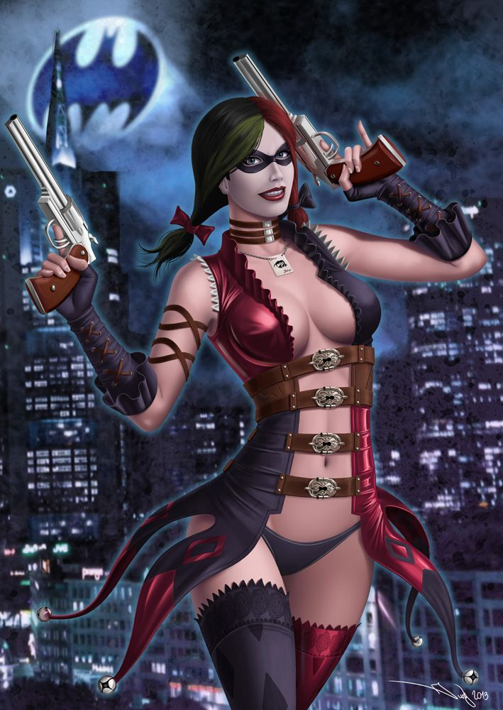 Curious harley quinn naked game version
