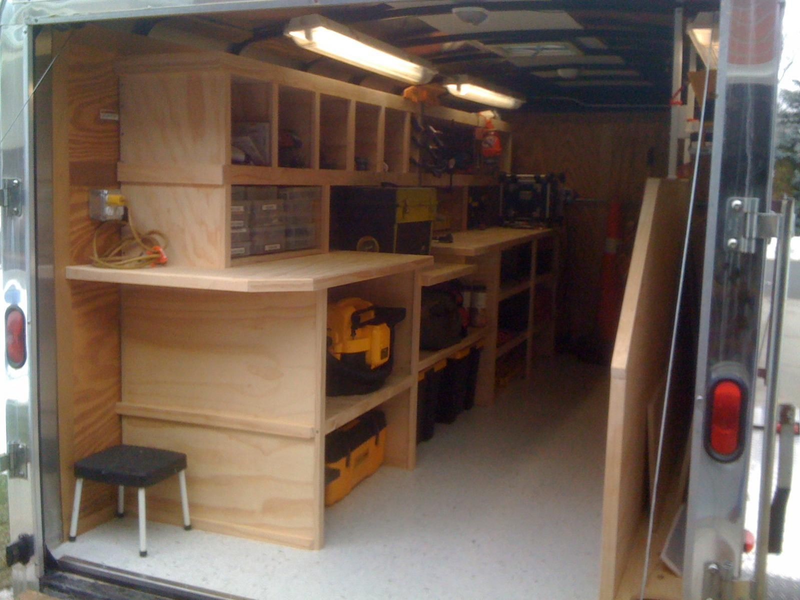 Contractor Tool Trailer Setup | thank you everyone for the ideas for ...