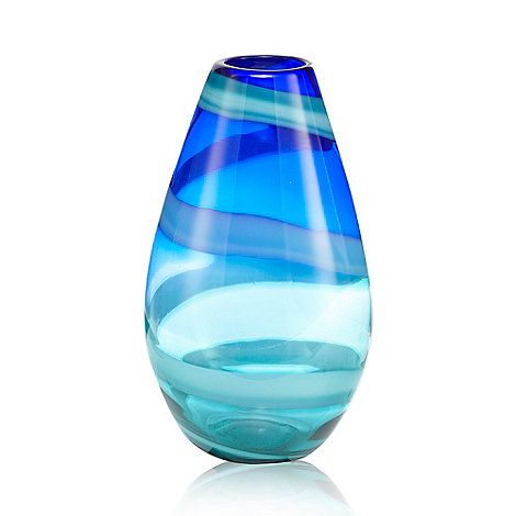 Butterfly Home By Matthew Williamson Dark Blue Swirl Bullet Vase