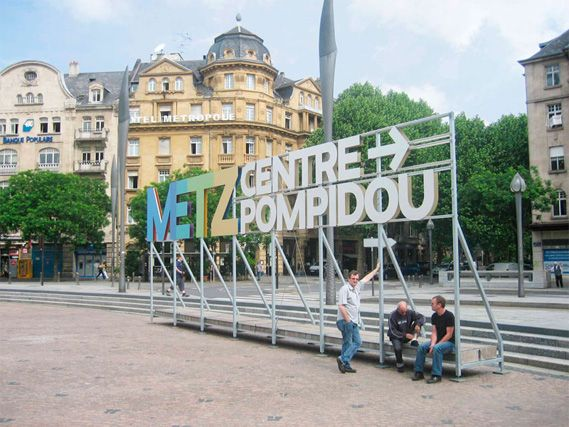 Metz City Signage, France    by Intégral Ruedi Baur  2010 – 2012