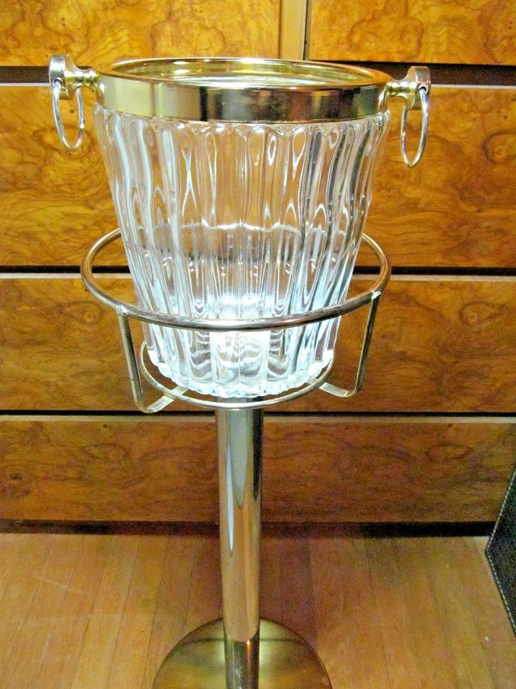 Ice Bucket Champagne Bucket And Brass Stand Floor Wine Cooler Champagne Buckets Wine Cooler Wine Bucket